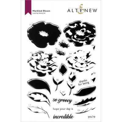 Altenew Clear Stamps - Marbled Bloom