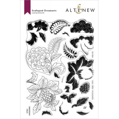 Altenew Clear Stamps - Scalloped Ornaments