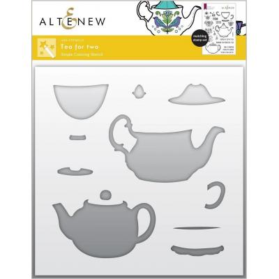 Altenew Stencil - Tea For Two