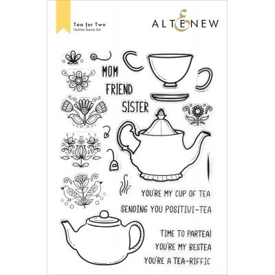 Altenew Clear Stamps - Tea For Two