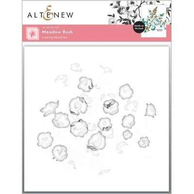 Altenew Stencil - Meadow Bush Layering