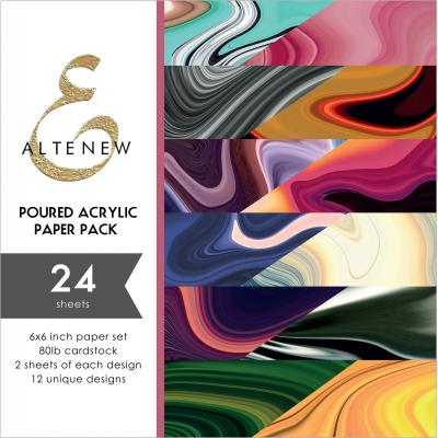 Altenew Poured Acrylic Designpapier - Paper Pack