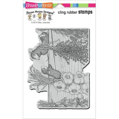Stampendous House Mouse Cling Stamp - Drying Herbs