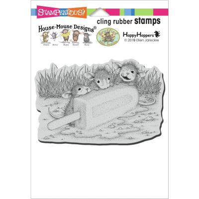 Stampendous House Mouse Cling Stamp - Cool Treat