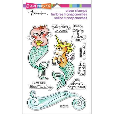 Stampendous Perfectly Clear Stamps - Mermaid Pals