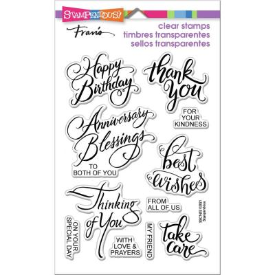 Stampendous Perfectly Clear Stamps - Brushed Messages