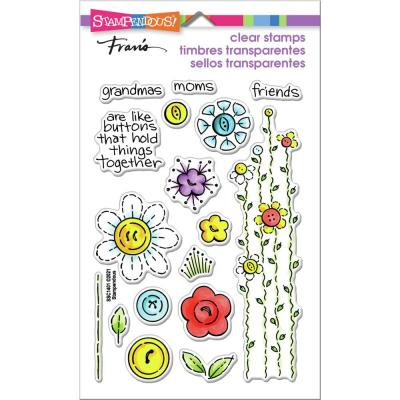 Stampendous Perfectly Clear Stamps - Button Blossoms