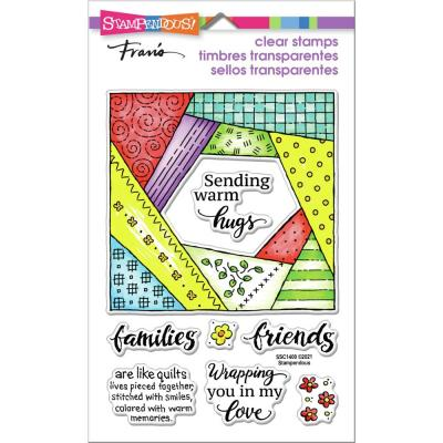 Stampendous Perfectly Clear Stamps - Quilt Hugs