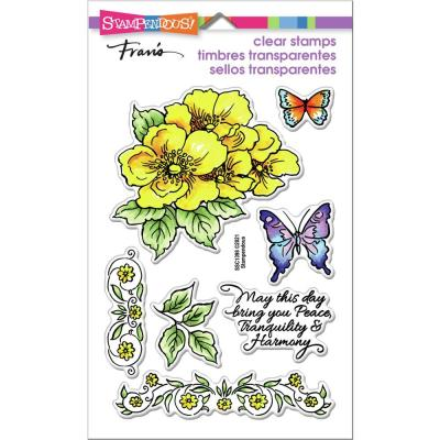 Stampendous Perfectly Clear Stamps - Tranquil Rose Frame