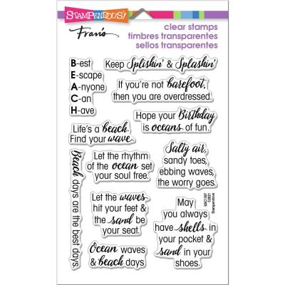 Stampendous Perfectly Clear Stamps - Ocean Sayings