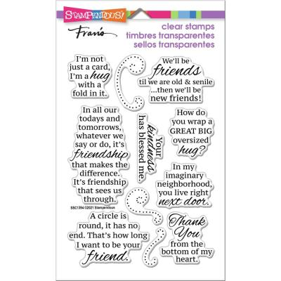 Stampendous Perfectly Clear Stamps - Friends Hug
