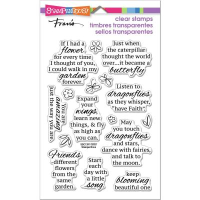Stampendous Perfectly Clear Stamps - Winged Wishes