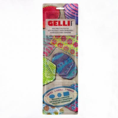 Gelli Plate - Gel Printing Plates - Mini Set: Oval, Hexagon, Rechteck