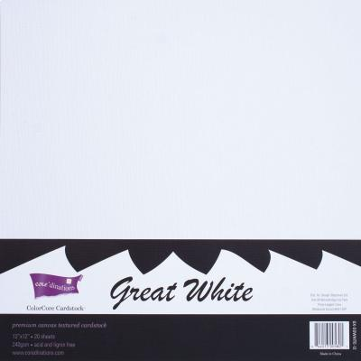 12 x 12'' Cardstock Great White