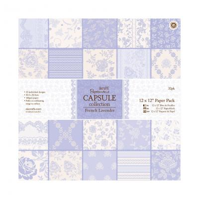 Capsule Collection - French Lavender - Papierblock, 32 Blatt, 12x12''