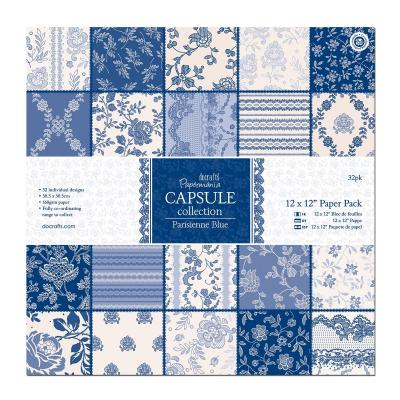 Capsule Collection - Parisienne Blue - Papierblock, 32 Blatt, 12x12''