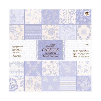 Capsule Collection - French Lavender - Papierblock, 32 Blatt, 8x8''