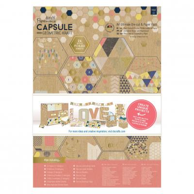 Capsule Collection - Geometric Kraft - Stanz- & Papierblock, 48 Blatt, DIN A4