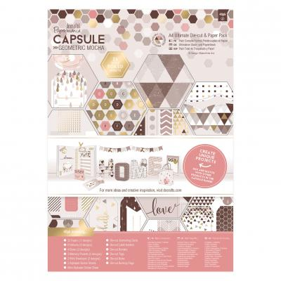 Capsule Collection - Geometric Mocha - Stanz- & Papierblock, 48 Blatt, DIN A4