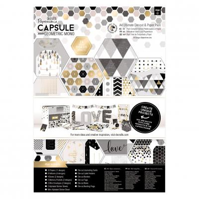 Capsule Collection - Geometric Mono - Stanz- & Papierblock, 48 Blatt, DIN A4