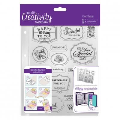 Creativity Essentials Clear Stamps - Traditionelle Grüße