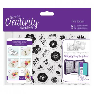Creativity Essentials Clear Stamps - Folk Floral