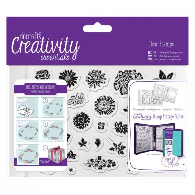 Creativity Essentials Clear Stamps - Traditionelle Blumen