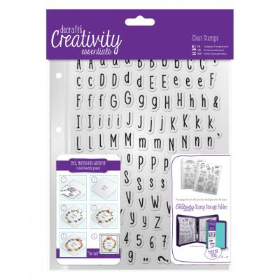Creativity Essentials Clear Stamps - Folk Alphabet