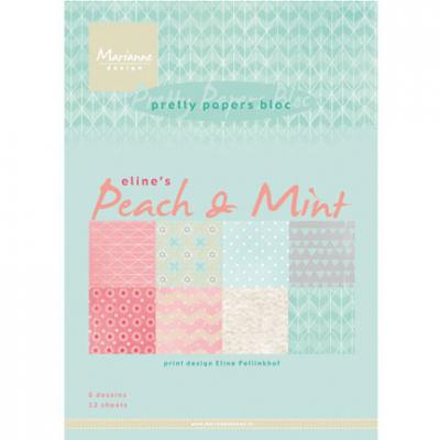 Papierblock DIN A5 Peach & Mint