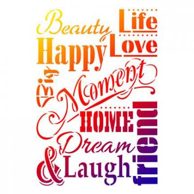 Life Love Laugh - Universelle DIN A3 Schablone