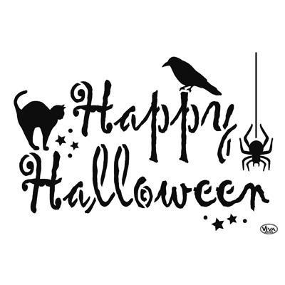 Happy Halloween Universelle Din A4 Schablonen Kreativbunt