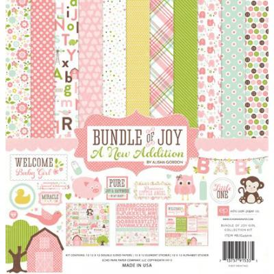 Bundle of Joy - A New Addition - Girl - Collection Kit 12 x 12''