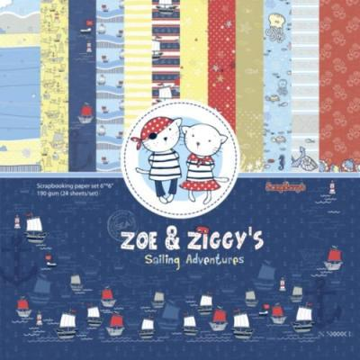 ScrapBerry's Zoe & Ziggy's Sailing Adventures  - 6x6'' Paper Pack
