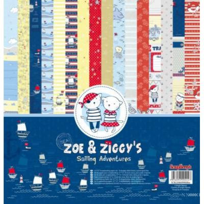 ScrapBerry's Zoe & Ziggy's Sailing Adventures - 12x12'' Paper Pack