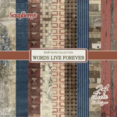 ScrapBerry's Words Live Forever 6x6'' Paper Pack