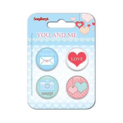 ScrapBerry's Embellishment Set You and Me - Two Hearts