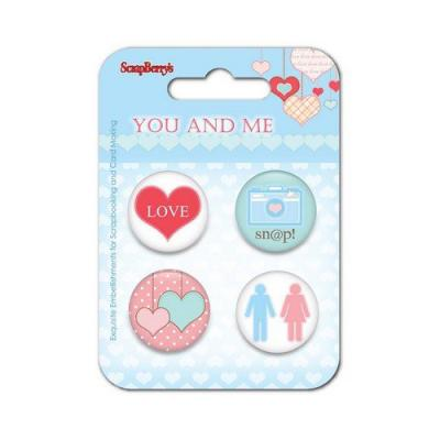 ScrapBerry's Embellishment Set You and Me - Snap!
