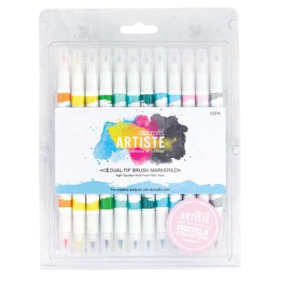 Dual Brush Marker Set in Pastellfarben