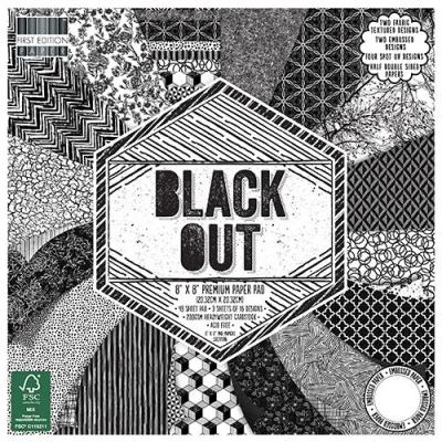 8x8'' Paper Pad Black Out