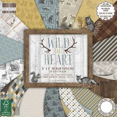 8x8'' Paper Pad Wild At Heart