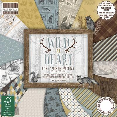 6x6'' Paper Pad Wild At Heart