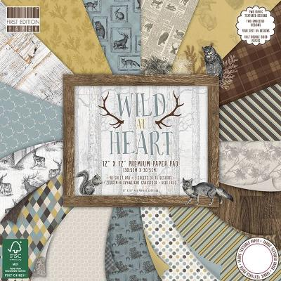 12x12'' Paper Pad Wild At Heart