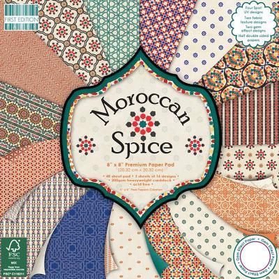 8x8'' Paper Pad Morrocan Spice