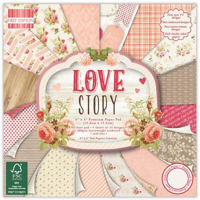 6x6'' Paper Pad Love Story