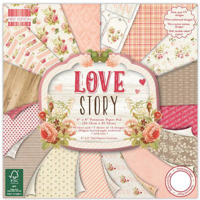 8x8'' Paper Pad Love Story