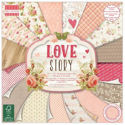 12x12'' Paper Pad Love Story