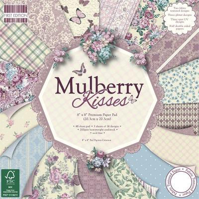 8x8'' Paper Pad Mulberry Kisses