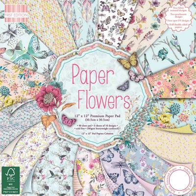 12x12'' Paper Pad Paper Flowers