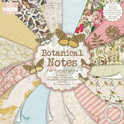 8x8'' Paper Pad Botanical Notes