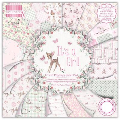 6x6'' Paper Pad It's a Girl